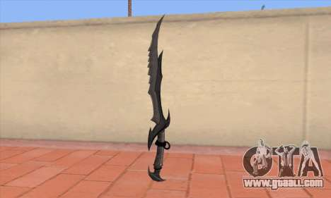 The sword of Skyrim for GTA San Andreas