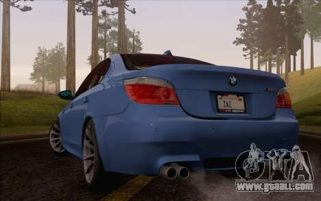 BMW M5 E60 2009 for GTA San Andreas left view