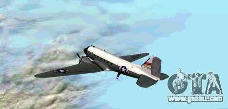 C-47 Dakota USAF for GTA San Andreas right view