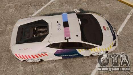 Lamborghini Huracan Hungarian Police [ELS] for GTA 4 right view