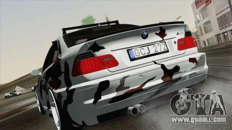 BMW M3 E46 Camo for GTA San Andreas left view