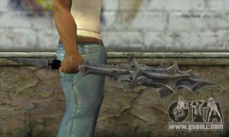 Daedric Sword for GTA San Andreas third screenshot