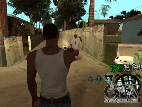 C-HUD Groove Street for GTA San Andreas seventh screenshot