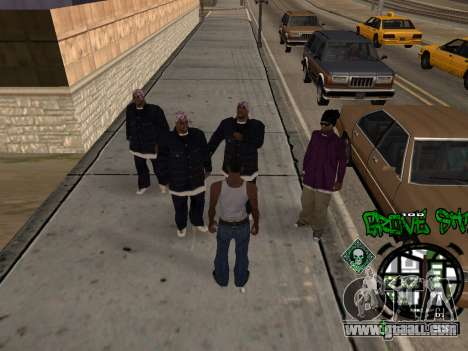 C-HUD Groove Street for GTA San Andreas second screenshot