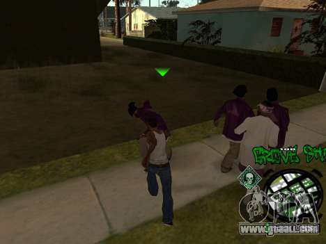 C-HUD Groove Street for GTA San Andreas forth screenshot