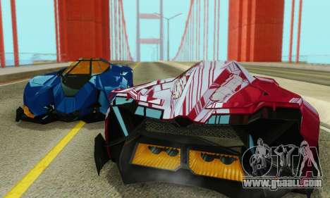 Lamborghini Egoista for GTA San Andreas upper view