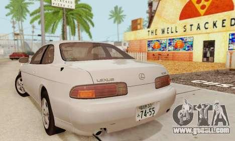 Lexus SC300 v1.01 [ImVehFT] for GTA San Andreas back left view