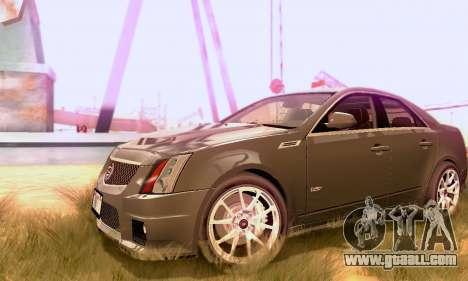 Cadillac CTS-V Sedan 2009-2014 for GTA San Andreas back view