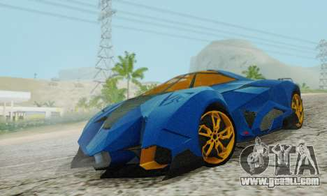 Lamborghini Egoista for GTA San Andreas back view
