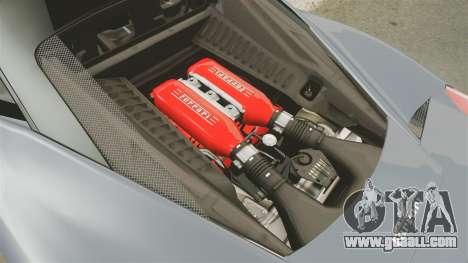 Ferrari 458 Italia for GTA 4 inner view