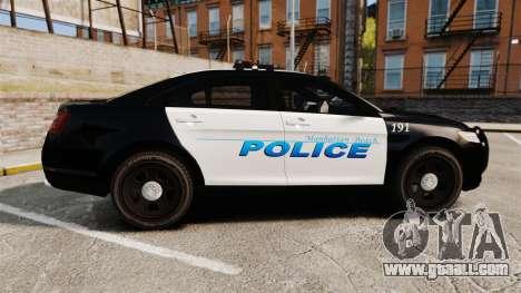Ford Taurus Police Interceptor 2013 [ELS] for GTA 4 left view
