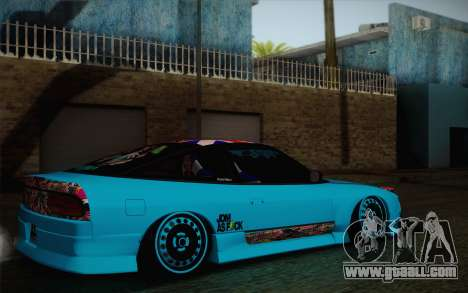Nissan 240SX Drift Stance for GTA San Andreas back left view