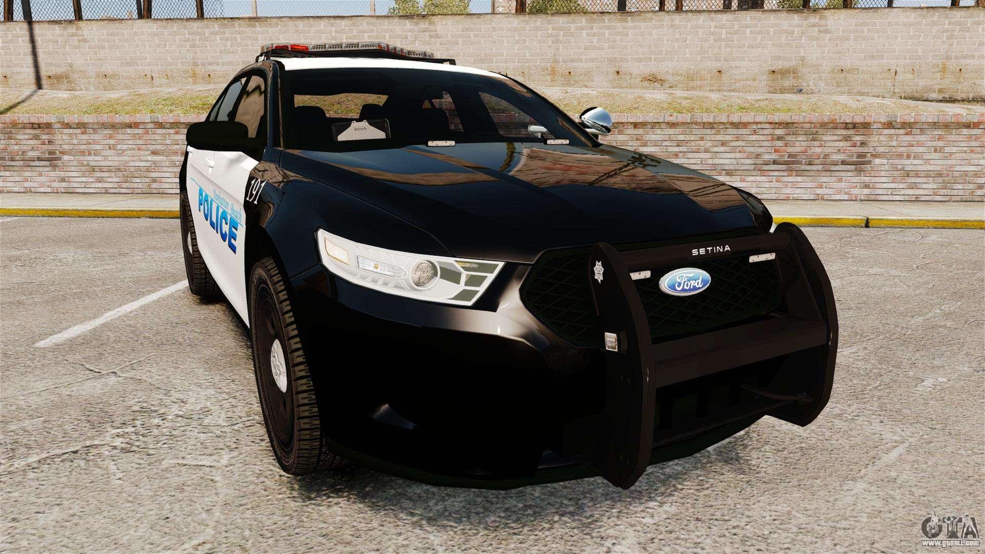 ford taurus police interceptor 2013 els for gta 4. Black Bedroom Furniture Sets. Home Design Ideas