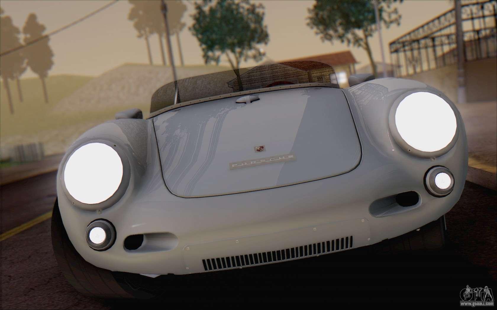 porsche 550 spyder 1955 for gta san andreas back view - Porsche Spyder 550 2014