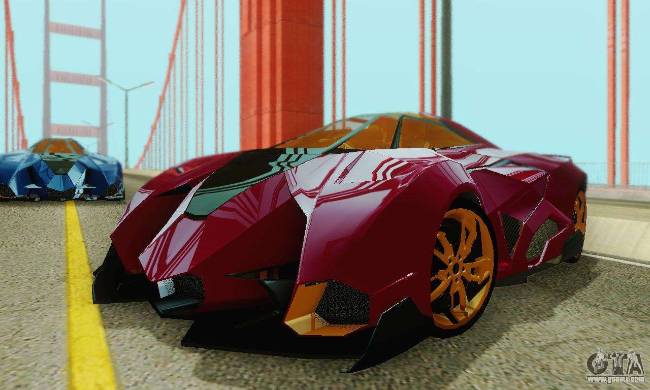 Lamborghini Egoista For GTA San Andreas Bottom View