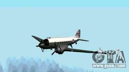 C-47 Dakota USAF for GTA San Andreas