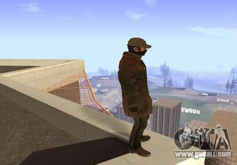 Aiden Pearce for GTA San Andreas third screenshot