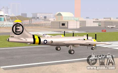 B-29A Superfortress for GTA San Andreas left view