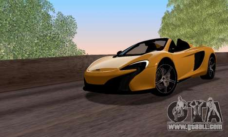 McLaren 650S Spyder 2014 for GTA San Andreas