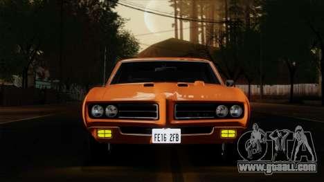 Pontiac GTO The Judge Hardtop Coupe 1969 for GTA San Andreas back view