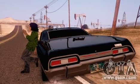 Chevrolet Impala 1967 Supernatural for GTA San Andreas inner view