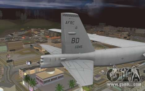 Boeing B-52H Stratofortress for GTA San Andreas back left view