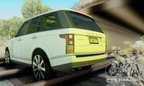 Range Rover Vogue 2014 V1.0 Interior Nero for GTA San Andreas inner view