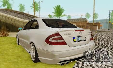 Mercedes-Benz CLK55 AMG 2003 for GTA San Andreas wheels