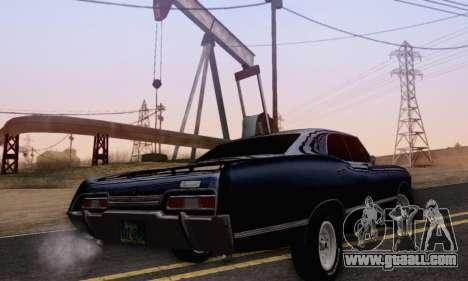 Chevrolet Impala 1967 Supernatural for GTA San Andreas left view