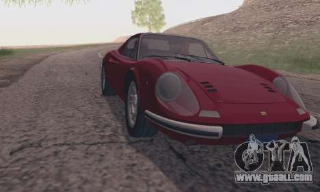 Ferrari Dino 246 GTS Coupe for GTA San Andreas back left view