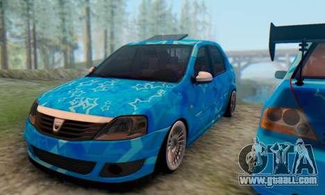 Dacia Logan Blue Star for GTA San Andreas inner view