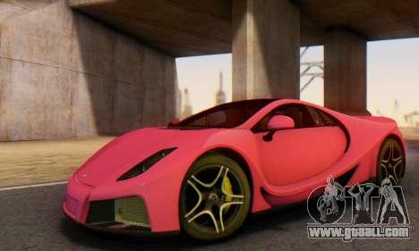 GTA Spano 2014 HQLM for GTA San Andreas interior