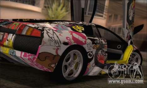 Lamborghini Murcielago 2005 Same Editions HQLM for GTA San Andreas left view