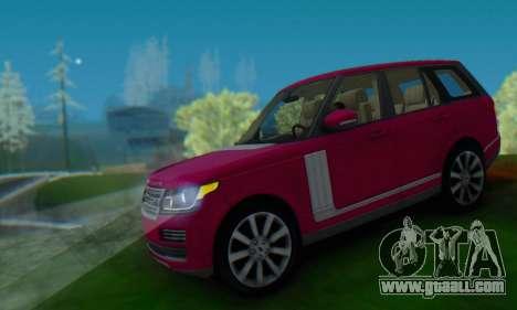Range Rover Vogue 2014 V1.0 SA Plate for GTA San Andreas back view