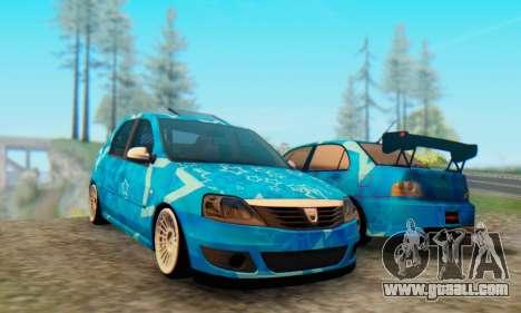Dacia Logan Blue Star for GTA San Andreas left view