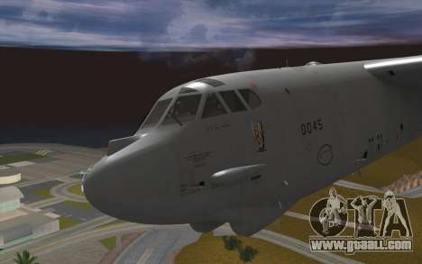 Boeing B-52H Stratofortress for GTA San Andreas back view
