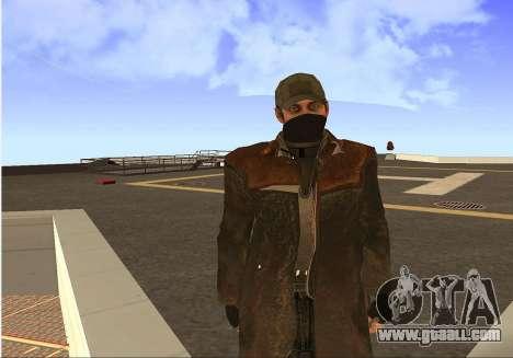 Aiden Pearce for GTA San Andreas fifth screenshot