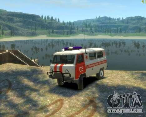 UAZ 39629 Ambulance for GTA 4 back left view