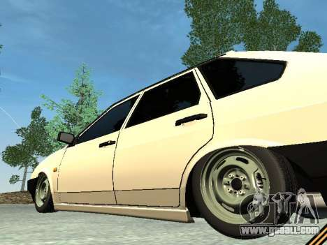 VAZ 2109 for GTA San Andreas bottom view