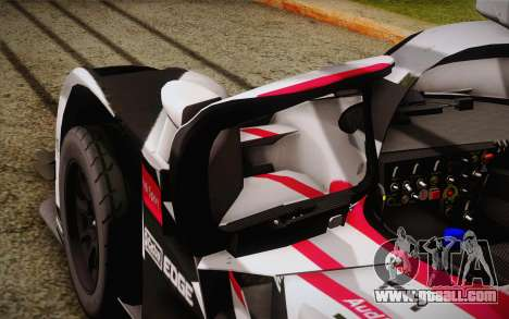 Audi R18 E-tron Quattro 2014 for GTA San Andreas upper view