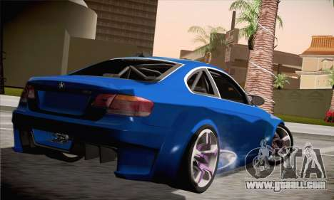 BMW M3 E92 SHDru Tuning for GTA San Andreas left view