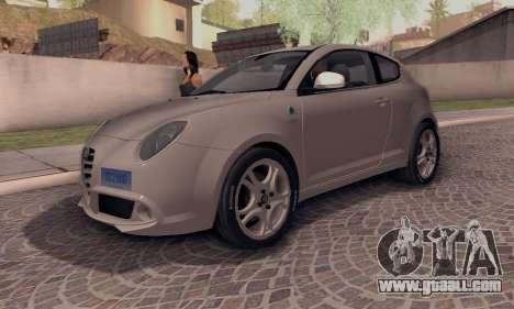 Afla Romeo Mito Quadrifoglio Verde for GTA San Andreas back left view