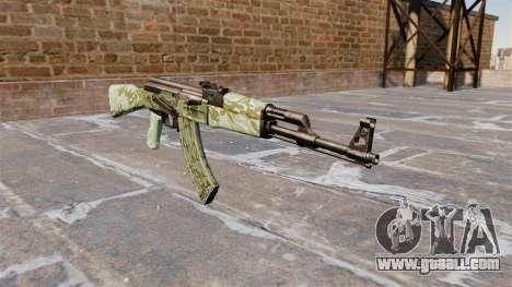 The AK-47 Green camo for GTA 4