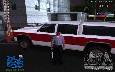 С-HUD Adidas for GTA San Andreas third screenshot