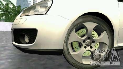 Volkswagen Golf V GTI for GTA Vice City right view