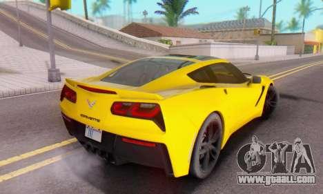 Chevrolet Corvette Stingray C7 2014 for GTA San Andreas upper view