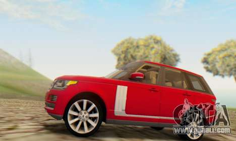 Range Rover Vogue 2014 V1.0 UK Plate for GTA San Andreas right view