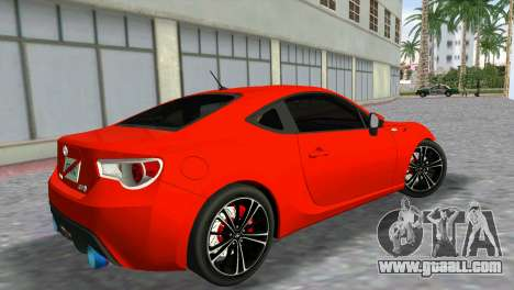 Toyota GT86 for GTA Vice City left view