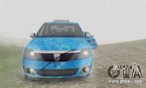 Dacia Logan Blue Star for GTA San Andreas upper view
