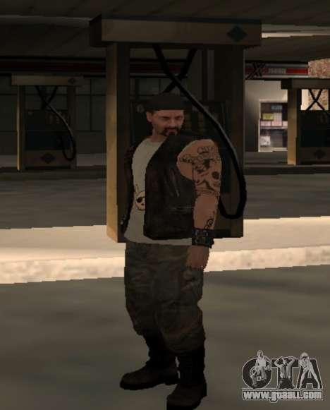 Biker from the club Roads Angels for GTA San Andreas forth screenshot